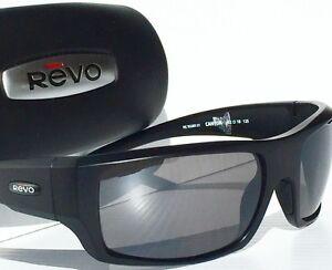 f0d9bb69bb NEW  REVO CANYON Matte Black w GREY POLARIZED Lens Sunglass RE5008x ...