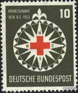 BRD (BR.Deutschland) 164 (kompl.Ausg.) postfrisch 1953 Rotes Kreuz