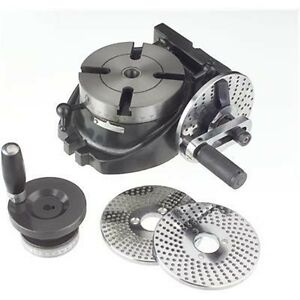 4-034-Precision-Machinist-Rotary-Table-with-3-Dividing-Plates-for-Milling-Machine