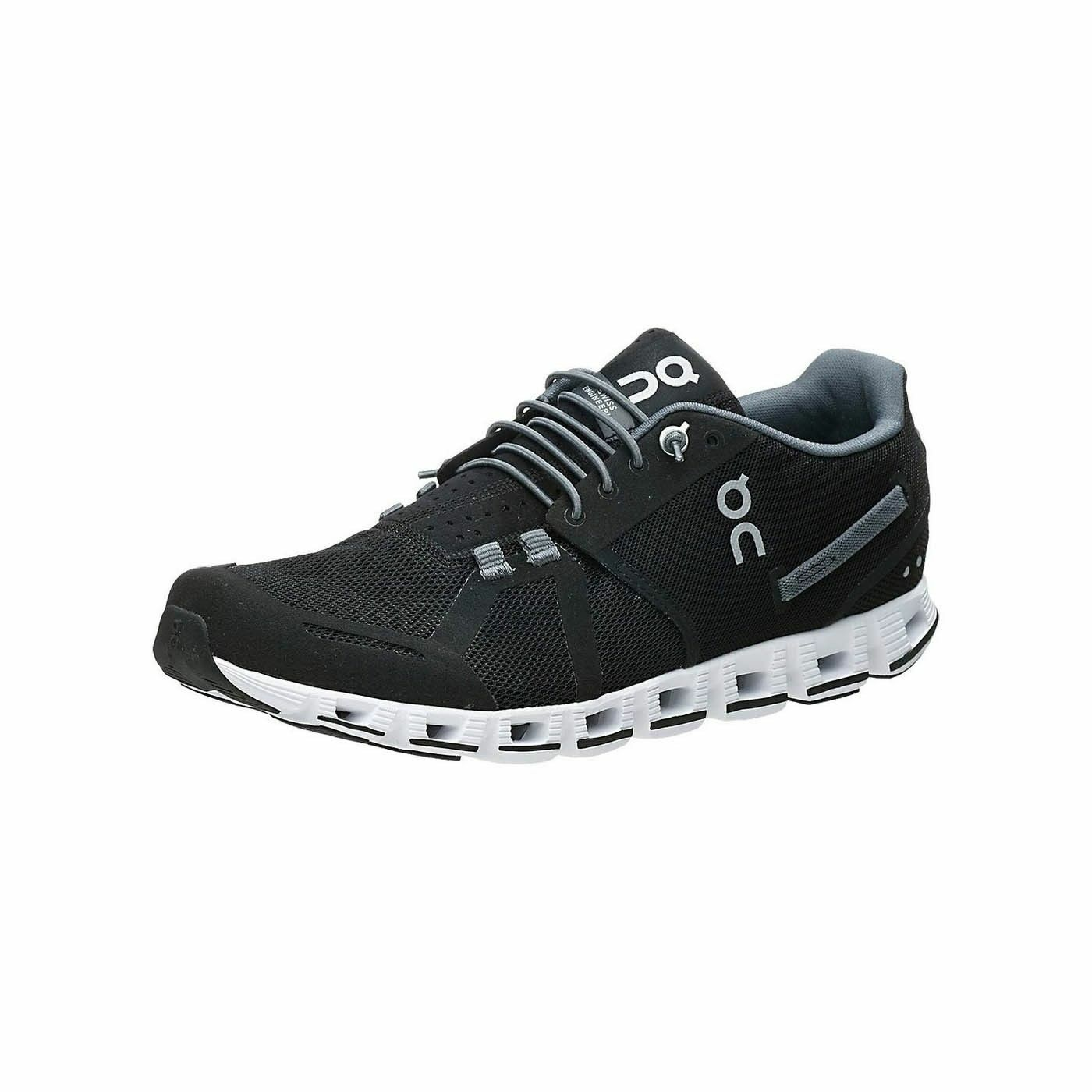 On-Running Cloud Sneakers Black / White Men's Shoes Size 8