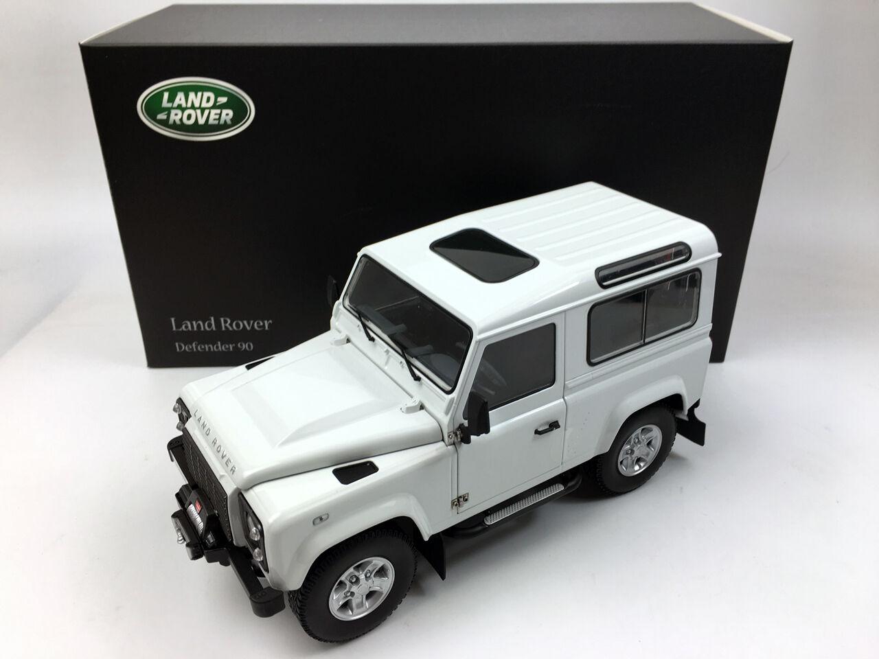 Kyosho 1 18 Land Rover Defender 90 Court Roue Fuji Blanc Die-Cast Metal Model