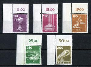 Berlin-668-672-Eckrand-Ecke-1-postfrisch-Industrie-und-Technik-1982-ungefaltet