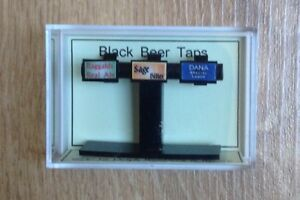 1.12th dolls house Black Beer Taps  Delph Miniatures.  New