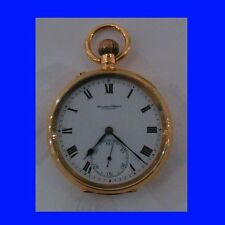 Mint & Rare 9k Gold IWC 15J Deco Pocket Watch 1913