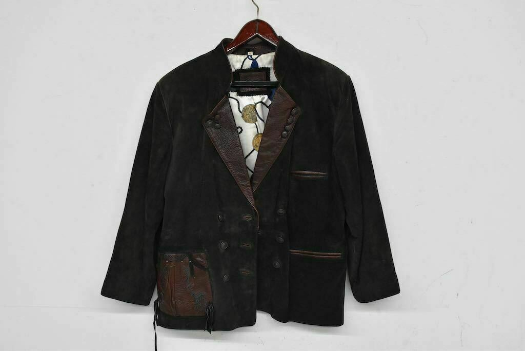 A7 / Men's Leather Traditional Jacket,Size 44 - Height/Length Approx. 70