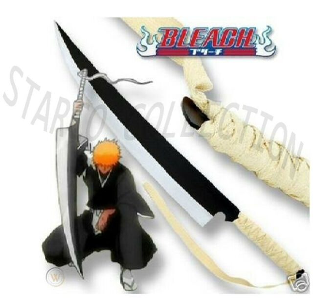 Anime Bleach Ichigo Katana Key Chain Sword C Black Plastic Display Stand Cc For Sale Online Ebay