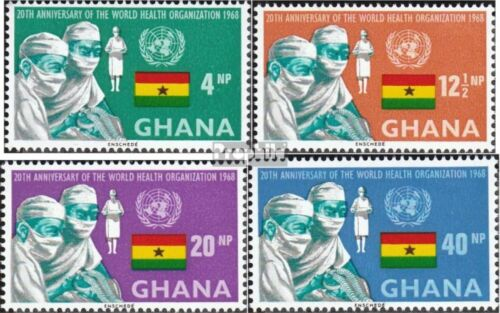 Ghana 347A350A complete.issue. unmounted mint never hinged 1968 WHO
