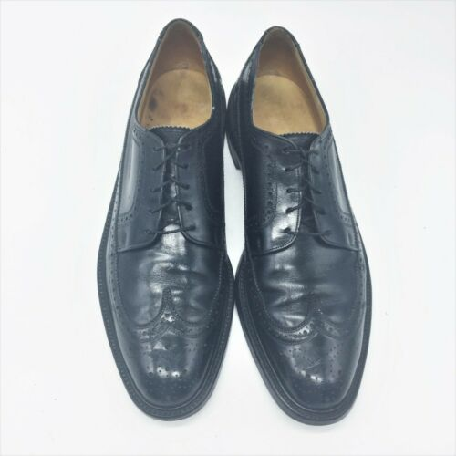 FLORSHEIM  Black Wing Tip Oxford 10M