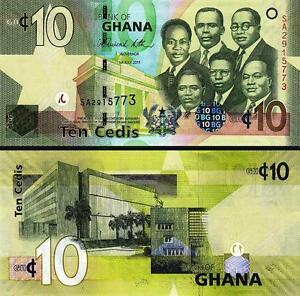 GHANA 10 CEDIS 2011 UNCIRCULATED P 39