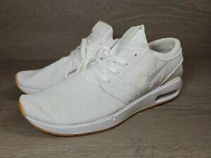 Nike Men's SB Air Max Stefan Janoski 2 Sz-12 AQ7477-100 White/White-Gum Yellow