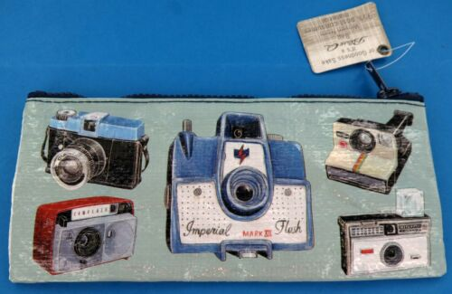 Blue Q Vintage Camera Pencil Case Retro Style Lomo