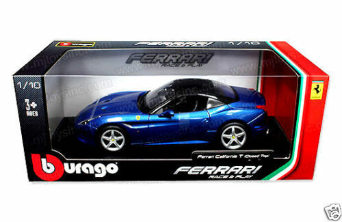 BBURAGO    FERRARI CALIFORNIA T CLOSED TOP 1 18 DIECAST MODEL CAR blueE 18-16003BL 63bb18