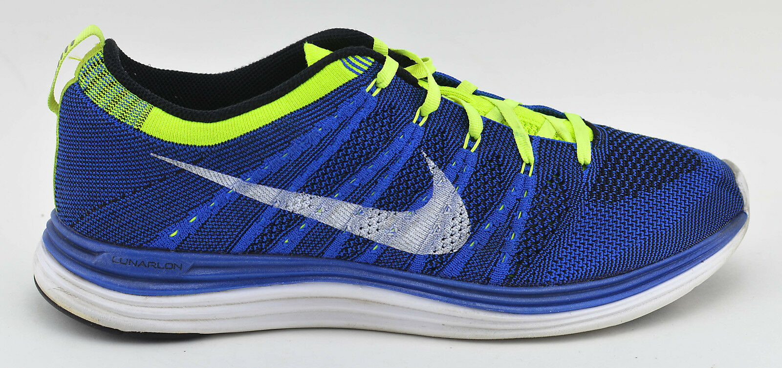 db21e63e9 NIKE LUNAR ONE RUNNING SHOES SIZE 10 blueE YELLOW WHITE 554887 410 FLYKNIT  MENS nqhuvn2523-Athletic Shoes