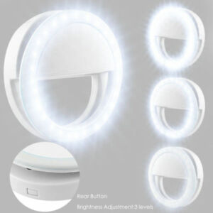 Portable Selfie LED Light Ring Fill Camera Flash Mobile Phone For iPhone Samsung 647923091984