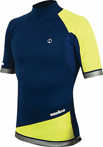 Navy/Yel - Nookie Ti Vest Short Sleeve-1mm Neo Top-Kayak/Surf<wbr/>/SUP/Wetsuit Jacket