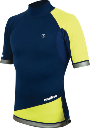 Navy/Yel - Nookie Ti Vest Short Sleeve-1mm Neo Top-Kayak/Surf/SUP/Wetsuit Jacket