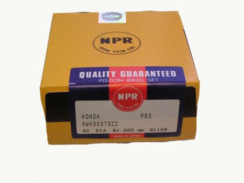 JDM FLOATING PIN NIPPON RACING HONDA PR3 B16A PISTONS NPR RINGS STD 81.50MM SIR