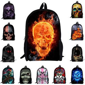 Cool-Skeleton-Skull-Backpack-Kids-School-Bag-for-Boys-Girls-Rucksack-Knapsack
