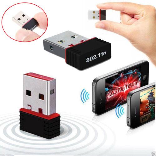 Mini USB WiFi WLAN 150Mbps Wireless Network Adapter 802.11n//g//b Dongle Power