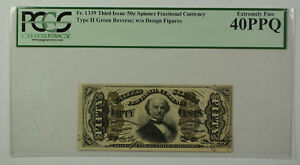 Third-Issue-50-Cent-Spinner-Fractional-Currency-Note-Type-II-PCGS-40PPQ-Fr-1339