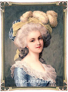 Marie-Antoinette-Lady-Blue-Quilt-Block-Multi-Sizes-FrEE-ShiPPinG-WoRld-WiDE