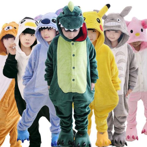 Kid Pajamas Kigurumi Unisex Cosplay Animal Costume One Piece Sleepwear Nightwear