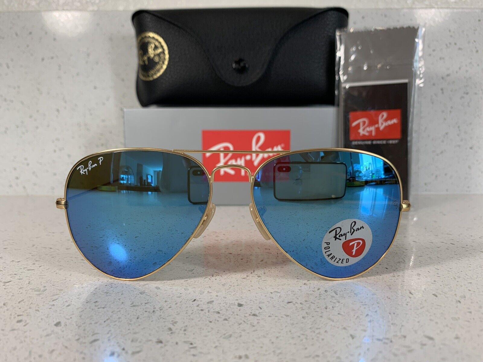 ray ban aviator sunglasses blue polarized