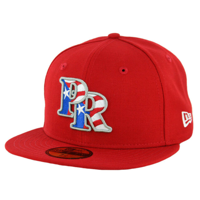 3f964b91a New Era 59Fifty Puerto Rico Fitted Hat (Scarlet Red) Men's Cap