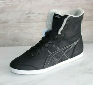 Details about Asics Kaeli High Top Leather Sneakers Black Women's Boots US-9.5 Casual Shoes
