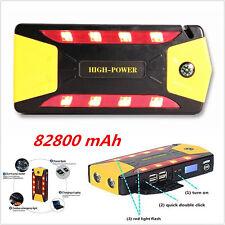 Portable 12V 82800mAh SOS LED Car Jump Starter Jumper Booster Battery Power Bank