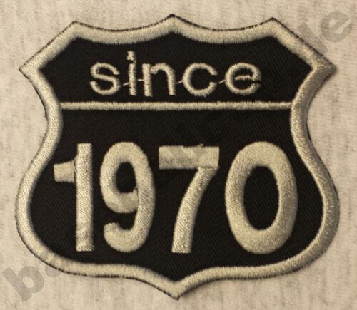 Patch ricamate anni numero since 1970 Biker Hot Rod Custom
