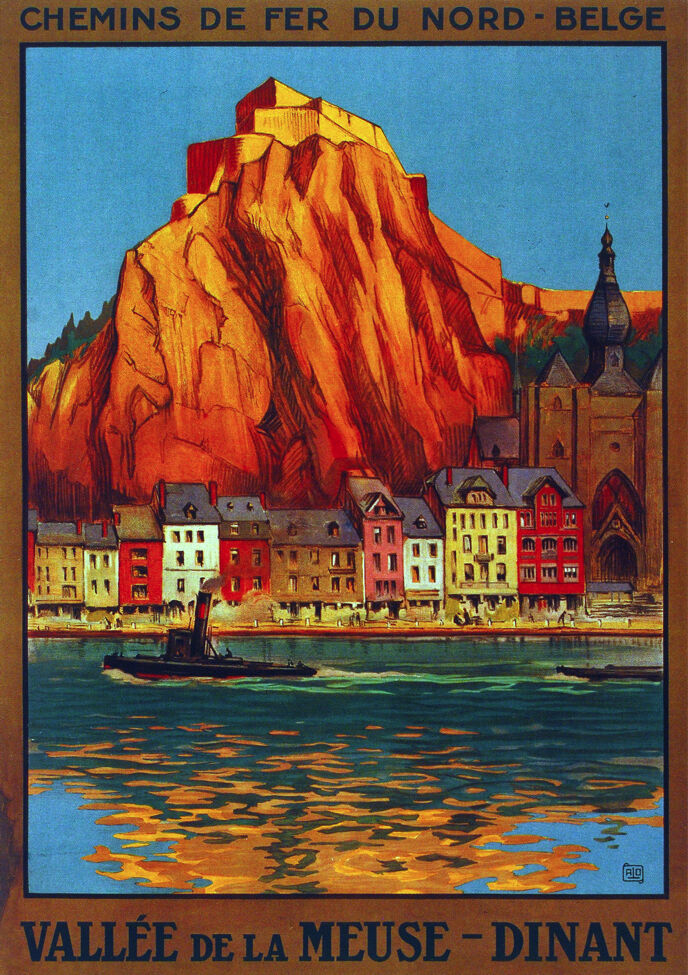 6122. Vallée de meuse Dinant. Travel POSTER. Wall Art interior design Decorative