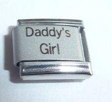 DADDY'S GIRL Italian Charm I Love My Daughter princess 9mm fits Classic Bracelet