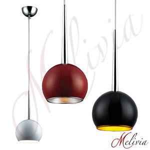 pendelleuchte rot schwarz silber grau gold weiss h ngelampe deckenlampe leuchte ebay. Black Bedroom Furniture Sets. Home Design Ideas