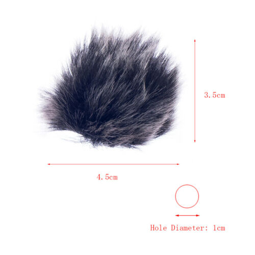 Fell Windschutz Windscreen Windshield fuer Revers Lavalier-Mikrofon Schwarz
