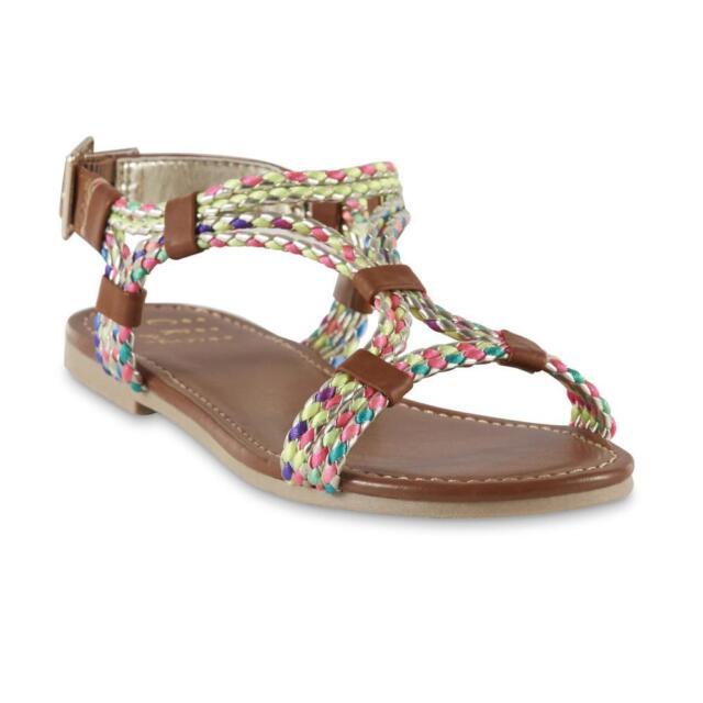 Brown Multi NIB 3M SIZE CRB Girl Youth Girls/' Campy Braided Sandal