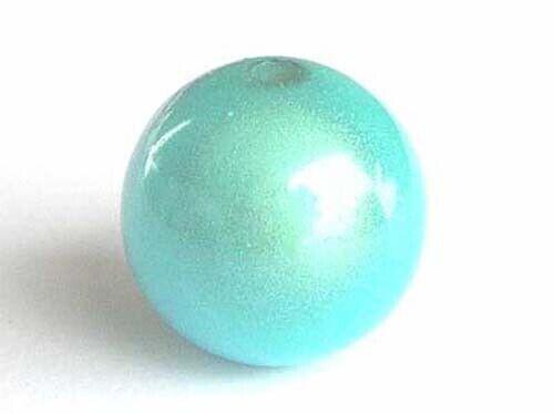 5 turquoise blue round miracle 2.5mm hole size illusion acrylic beads 16mm