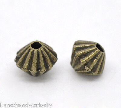 150 Antiksilber Spacer Perlen Zwischenteil 6x4mm