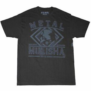 Metal-Mulisha-Men-039-s-Spray-Short-Sleeve-T-Shirt-Black-Clothing-Apparel-Skull-Skel