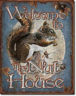 "TOOLS FUM WELCOME TO THE NUT HOUSE SQUIRREL JUMBO FRIDGE MAGNET 2/"" X 3/"" F.U.M"