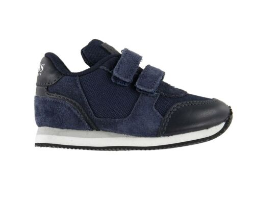 Hugo Boss Baby/'s J09E05 849 Suede Boys Trainers Navy Boss Shoes