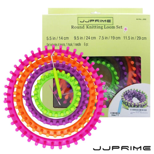 Round Knitter Métiers à tisser crocheter et tricoter Ring Set pompon Hat Maker Craft Kit