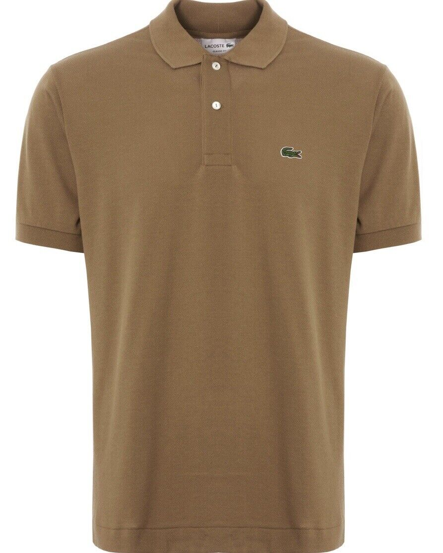 LACOSTE POLO SHIRT uomo CLASSIC FIT IN KRAFT SETTIMO RRP