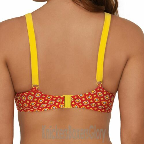Curvy Kate Swimwear Casablanca Padded Balcony Bikini Top Saffron CS2811