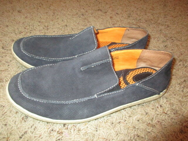 BORN LEATHER Suede DRIVING  Loafers NAVY Men's Sz 9.5