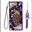 thumbnail 22 - Women Girls Luxury Leather Flip Bling Wallet Stand Phone Cases With Lanyards 1