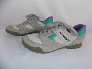 Shimano-Eur-43-Gray-green-purple-Cycling-Shoes-Lace-SPD-US-9-Men-039-s-10-5-Women-039-s