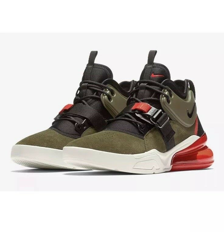 Nike Air Force 270 Mens Size Size Size 8 Medium Olive Green shoes AH6772 200 orange 107f32