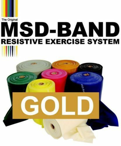 GOLD MSD Band MAX Resistance Exercise Slingshot Catapult Elastic Rubber Therapy