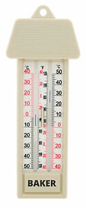 Baker MM2 Max-Min Thermometer. -40 to 50°C / -40 to 120°F.